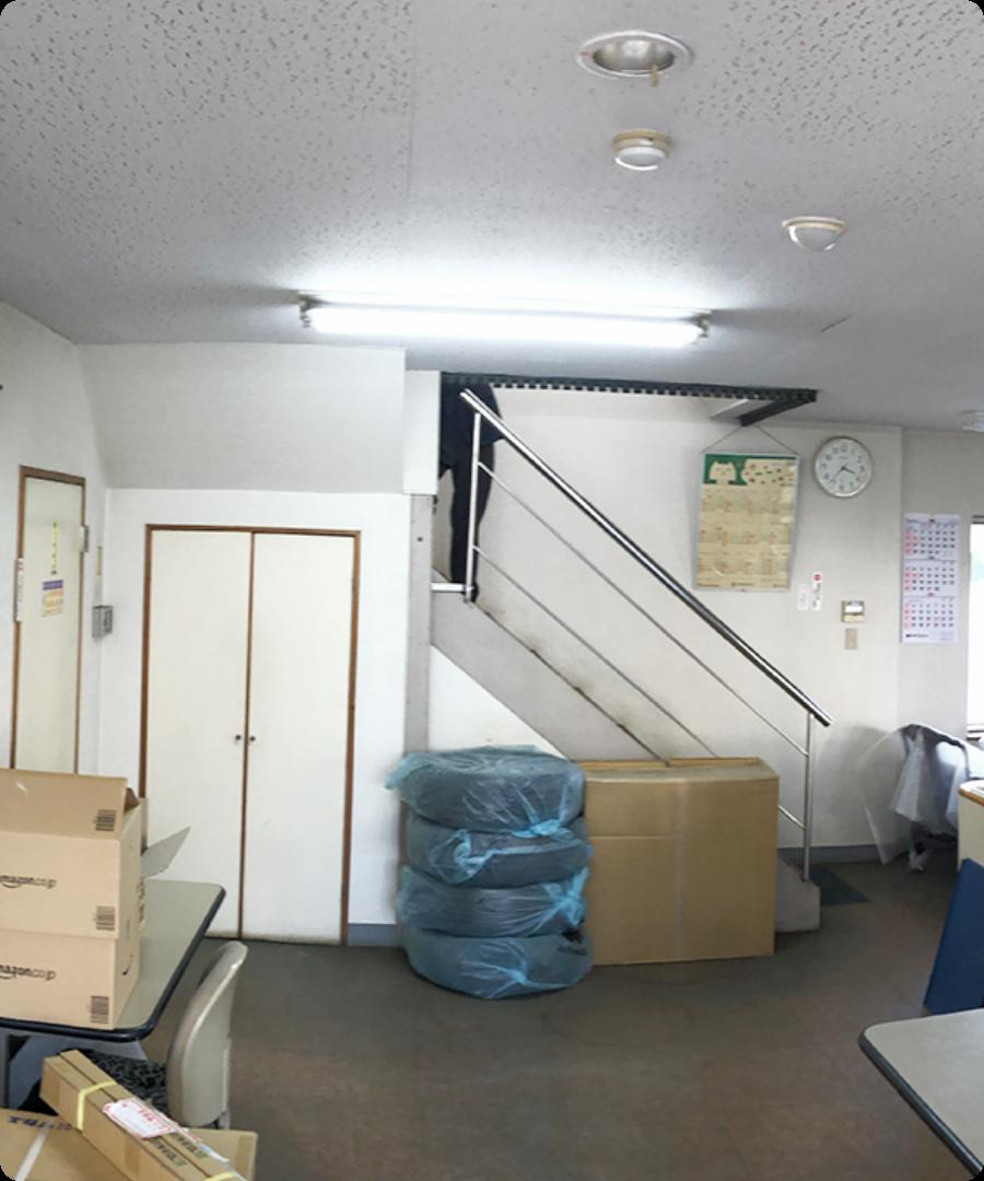某事務所エントランスホール及び事務所(Before)
